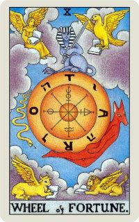 タロットカード: 運命の輪
