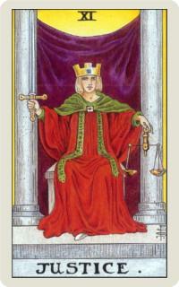 タロットカード: 正義