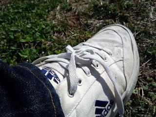 ほどけた靴ひも